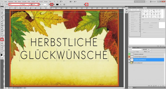 Tutorial Herbstliche Grußkarte Photoshop (5)
