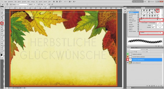 Tutorial Herbstliche Grußkarte Photoshop (6)