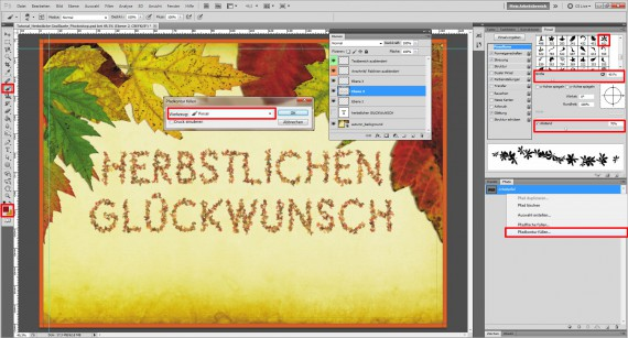 Tutorial Herbstliche Grußkarte Photoshop (8)