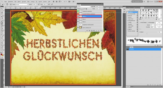 Tutorial Herbstliche Grußkarte Photoshop (9)