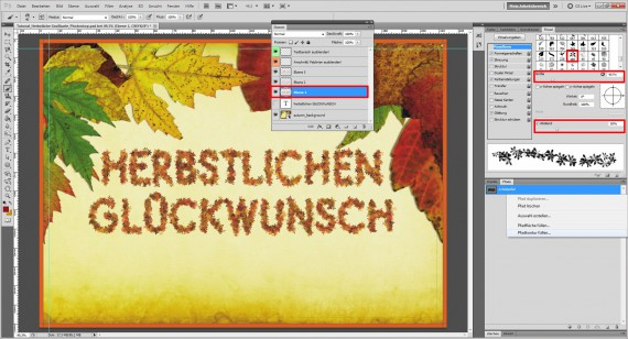 Tutorial Herbstliche Grußkarte Photoshop (10)