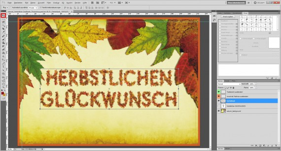 Tutorial Herbstliche Grußkarte Photoshop (11)
