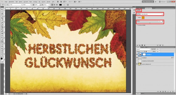 Tutorial Herbstliche Grußkarte Photoshop (14)