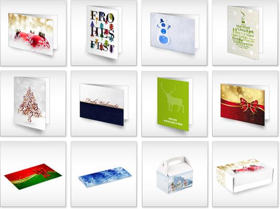 eine Auswahl unserer Weihnachtsdesigns