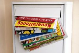 Werbeprospekte im Briefkasten