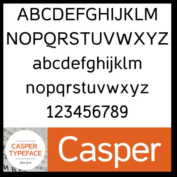 Casper Typeface Font
