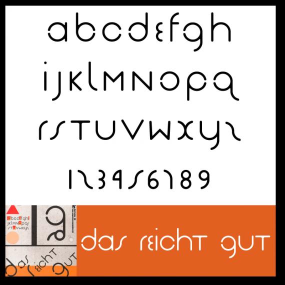 Das Reicht Gut Font