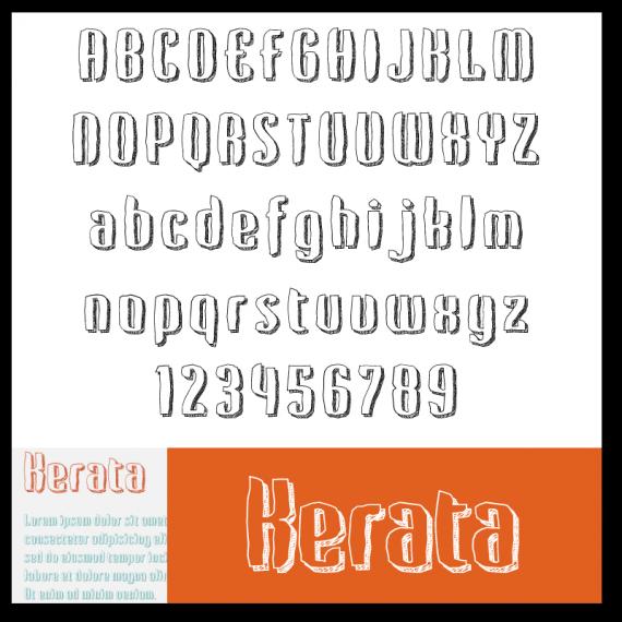 kostenlose Schriftarten - Kerata