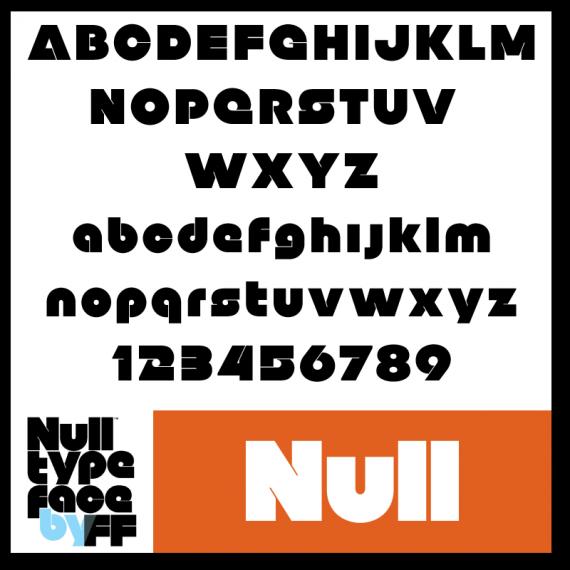 kostenlose Schriftarten - Null