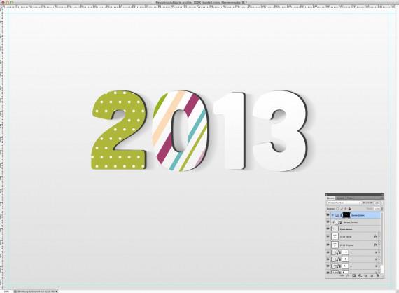 Postkarte Neujahrsgrüße (11c)