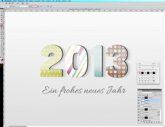 Postkarte Neujahrsgrüße (22a)