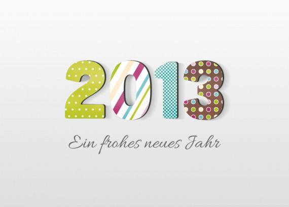 Postkarte Neujahrsgrüße fertig