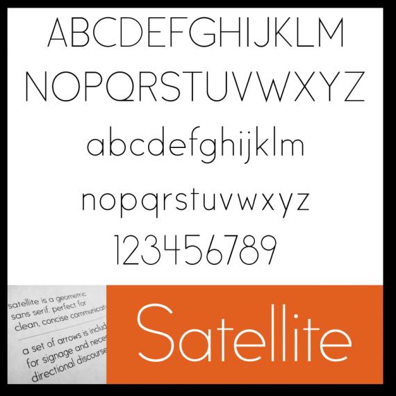 kostenlose Schriftarten - Satellite