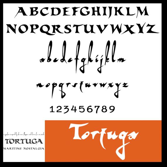 kostenlose Schriftarten - Tortuga