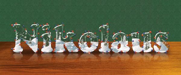 Tutorial: Postkarte mit Glasschrift zum Nikolaus