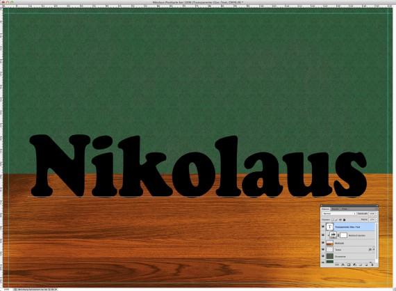 Nikolaus Tutorial: Postkarte mit Glasschrift (5a)