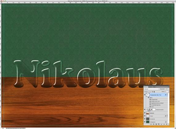 Nikolaus Tutorial: Postkarte mit Glasschrift (5i)