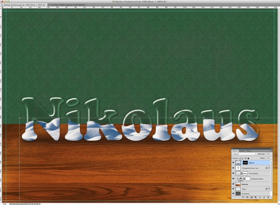 Nikolaus Tutorial: Postkarte mit Glasschrift (7b)
