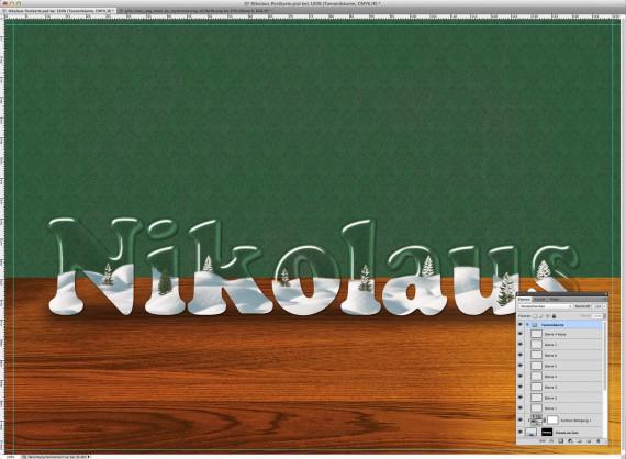 Nikolaus Tutorial: Postkarte mit Glasschrift (10)