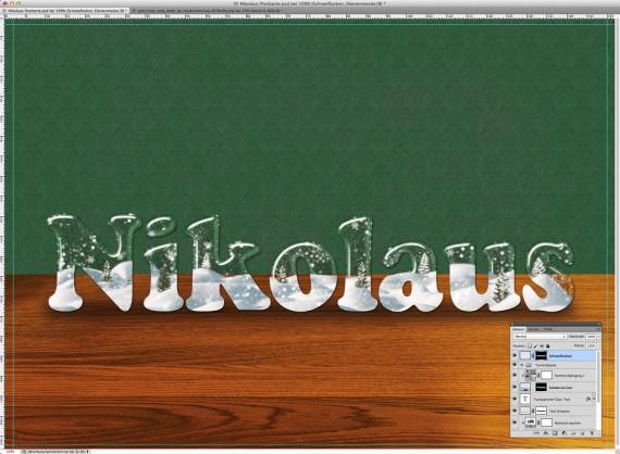 Nikolaus Tutorial: Postkarte mit Glasschrift (12)