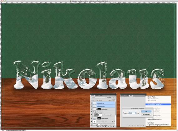 Nikolaus Tutorial: Postkarte mit Glasschrift (13)