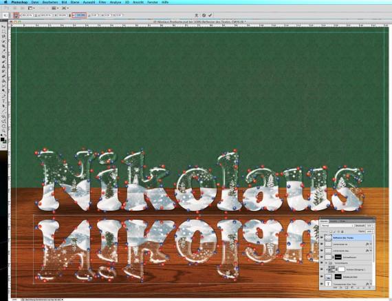 Nikolaus Tutorial: Postkarte mit Glasschrift (18)