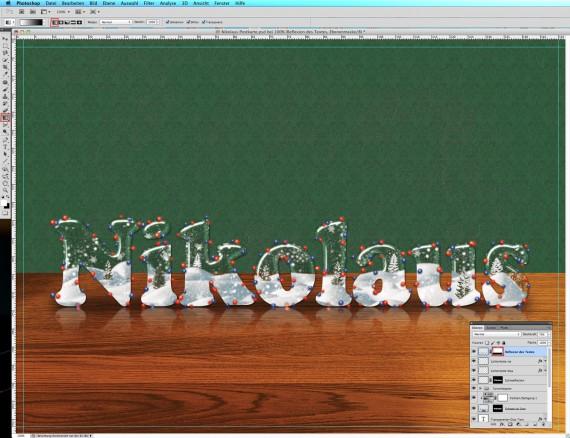 Nikolaus Tutorial: Postkarte mit Glasschrift (20b)