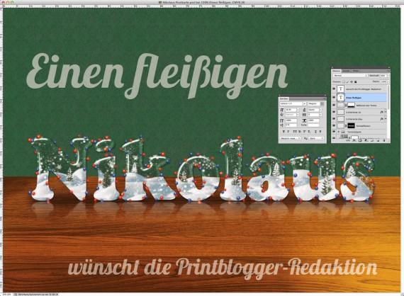 Nikolaus Tutorial: Postkarte mit Glasschrift (21)