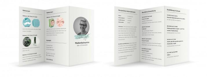 Flyer-Bewerbung im ansprechenden Design (finales Ergebnis)