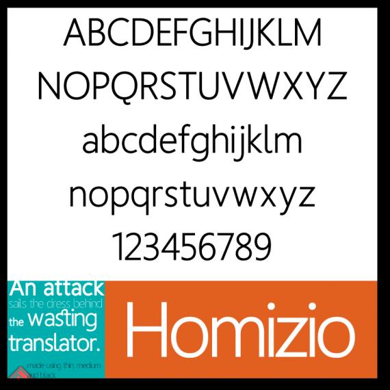 Homizio Font
