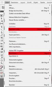 Speichern Exportieren von Dateiformaten
