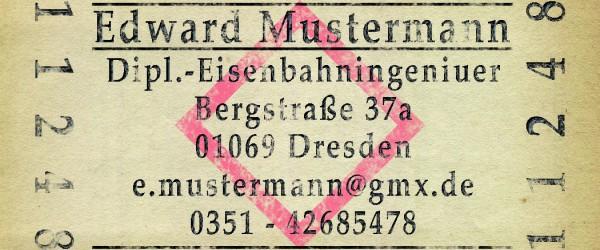 Freitagstutorial: Visitenkarte im Fahrkarten-Design