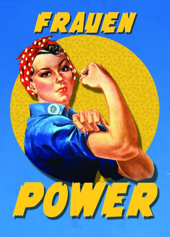 Tutorial Grußkarte Frauentag fertig