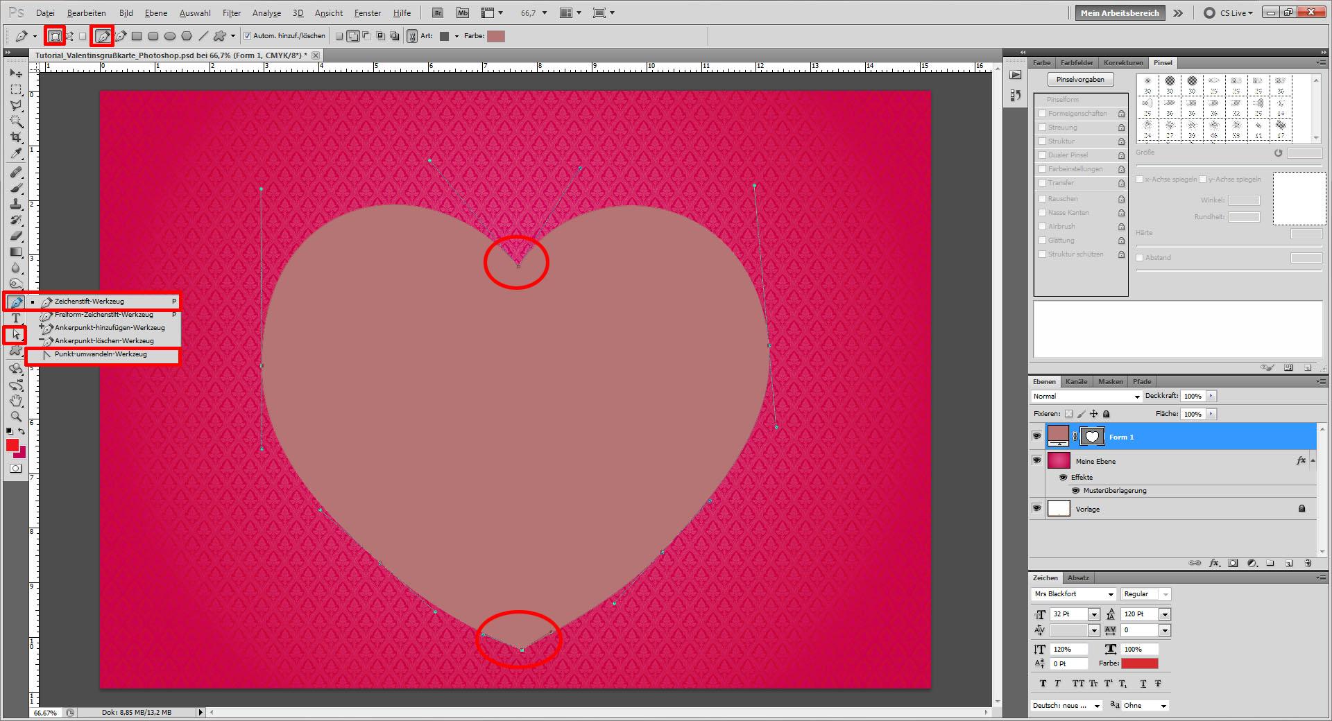Tutorial: Valentinskarte in Photoshop gestalten » Saxoprint-Blog