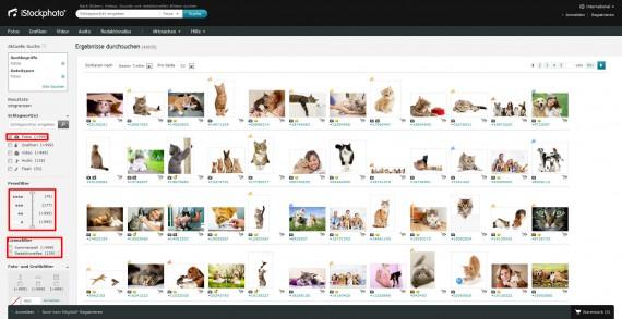 Informationen zur iStockphoto Bilddatenbank
