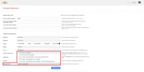Informationen zur Google Bildersuche