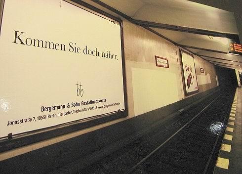 Außenwerbung Bestattung Bergemann Sohn
