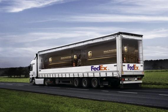 LKW Werbung FedEx