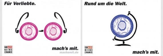 Plakatwerbung - mach's mit (Gib Aids keine Chance)