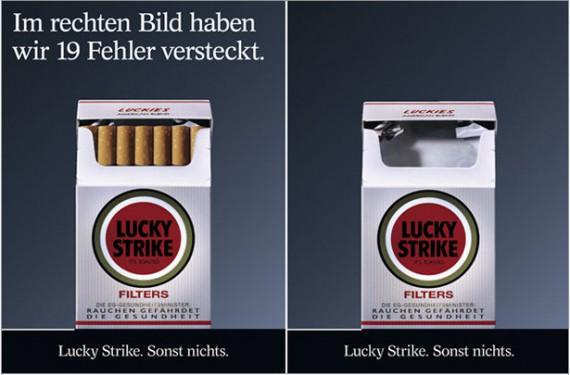 Werbung Lucky Strike Plakat