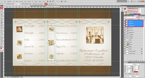 Tutorial Restaurant Karte / Speisekarte erstellen (11)