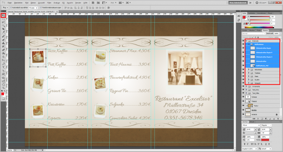 Tutorial Restaurant Karte / Speisekarte erstellen (13)