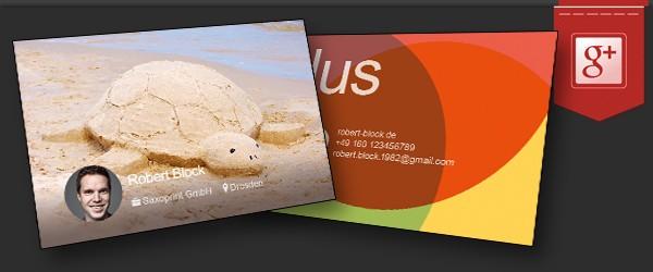 Gestalte deine Visitenkarte im Google+ Look