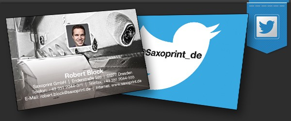Gestalte deine Visitenkarte im Twitter-Look