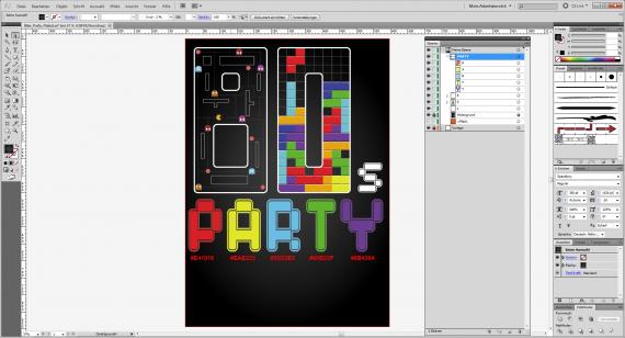80er Party-Plakat gestalten (17)
