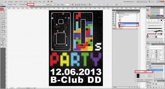 80er Party-Plakat gestalten (19)