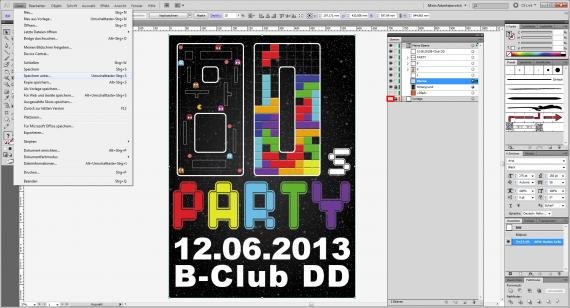 80er Party-Plakat gestalten (20)