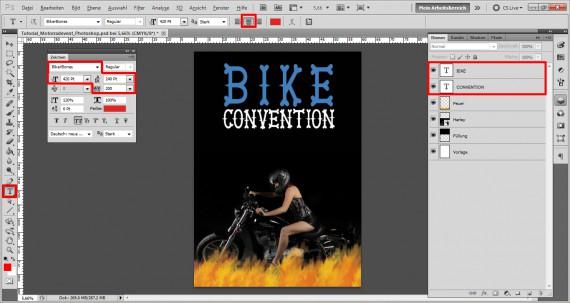 Plakat für ein Motorrad Treffen (4)