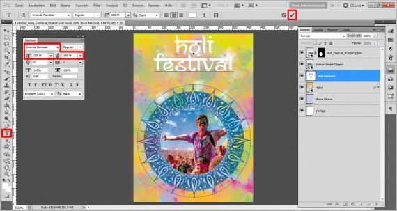 Tutorial Holi Festival Plakat (14)