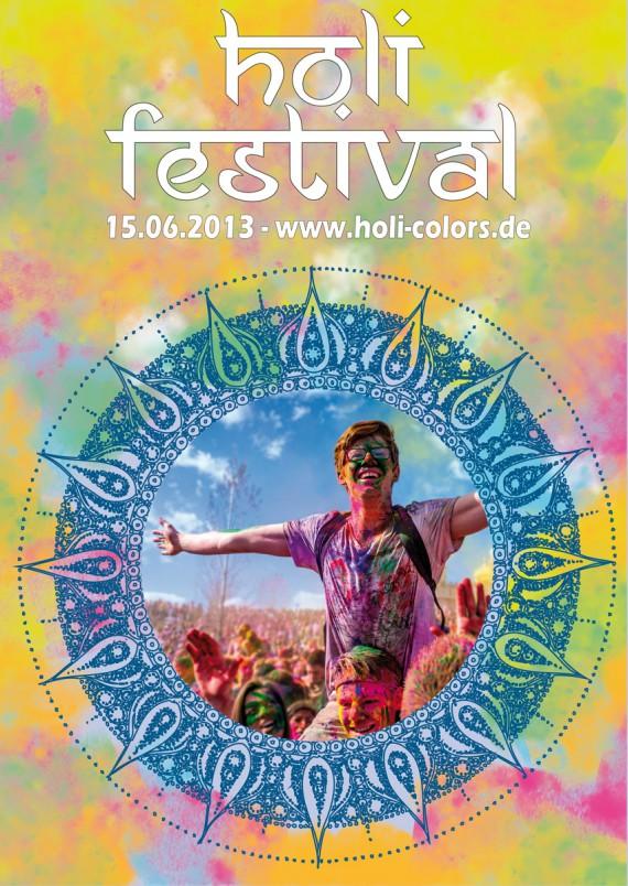 Tutorial Holi Festival Plakat Fertig
